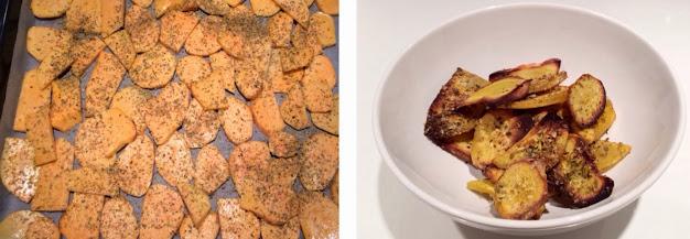 """Coxas de frango no forno com batata doce por """"semaditivos"""""""