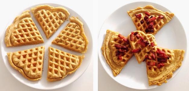 """Waffles salgados por """"semaditivos"""""""